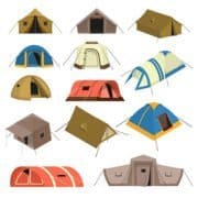 Different shapes and forms of tents