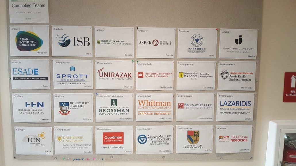 universities participating in Global family business competition